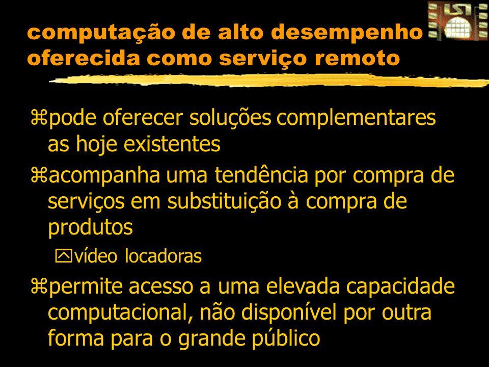 computação de alto desempenho oferecida como serviço remoto zpode oferecer soluções complementares as hoje existentes zacompanha uma tendência por com