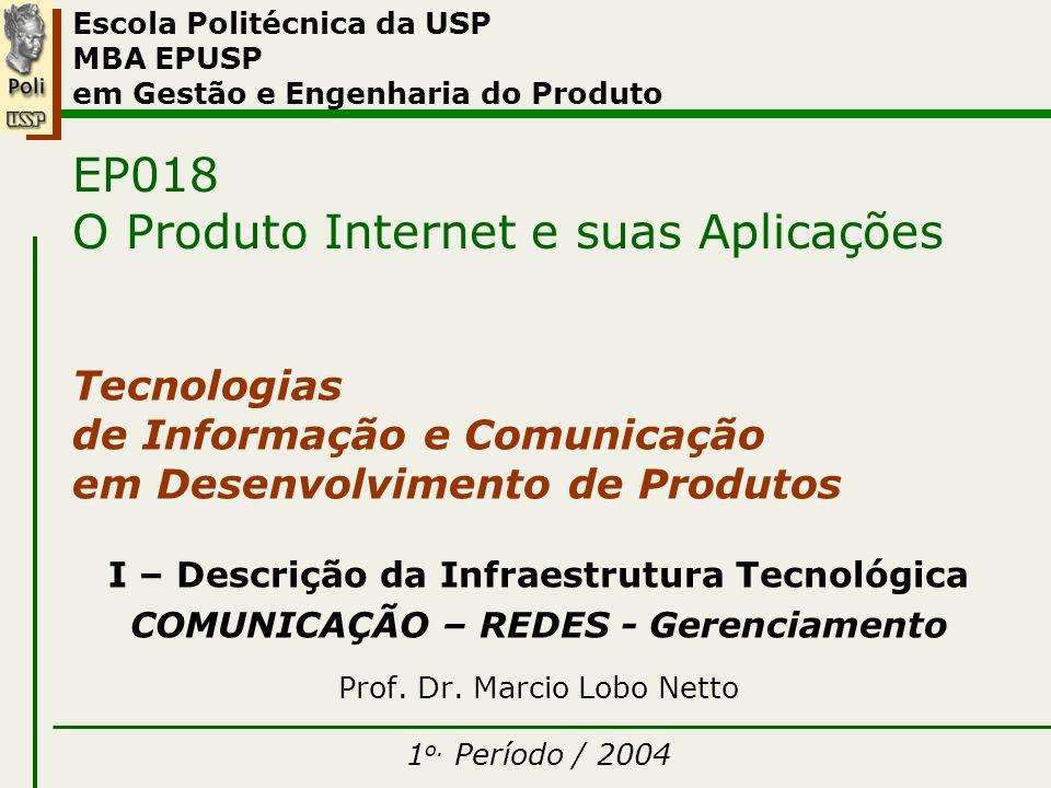 I – Comunicação – Redes – Gerenciamento 1o.