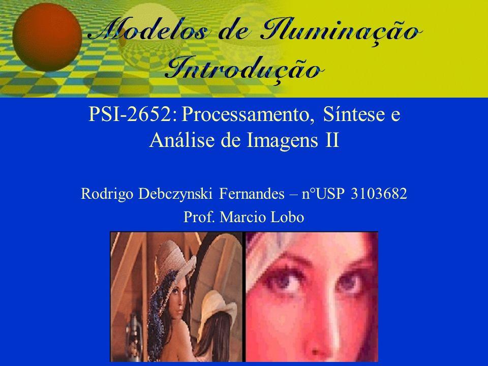PSI-2652: Processamento, Síntese e Análise de Imagens II Rodrigo Debczynski Fernandes – n°USP 3103682 Prof. Marcio Lobo