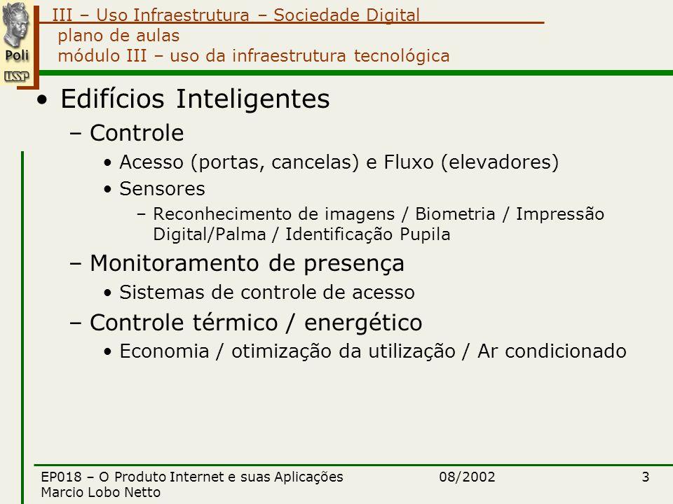 III – Uso Infraestrutura – Sociedade Digital 08/2002EP018 – O Produto Internet e suas Aplicações Marcio Lobo Netto 4