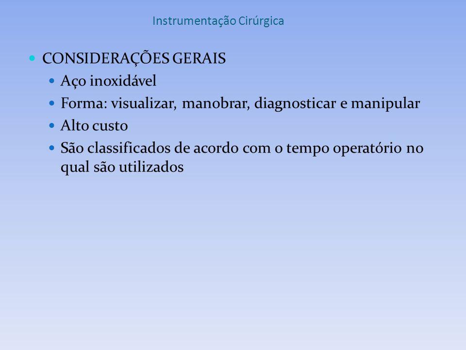 Instrumentação Cirúrgica INSTRUMENTAIS DE DIÉRESE Figura 2: Lâminas de bisturi Figura 1: Cabo de bisturi nº 3 e 4 Fonte: UME Fonte: www.instrumentador.com.br