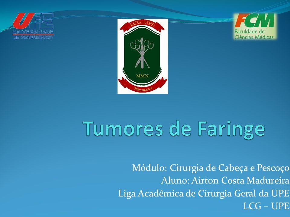 Módulo: Cirurgia de Cabeça e Pescoço Aluno: Airton Costa Madureira Liga Acadêmica de Cirurgia Geral da UPE LCG – UPE