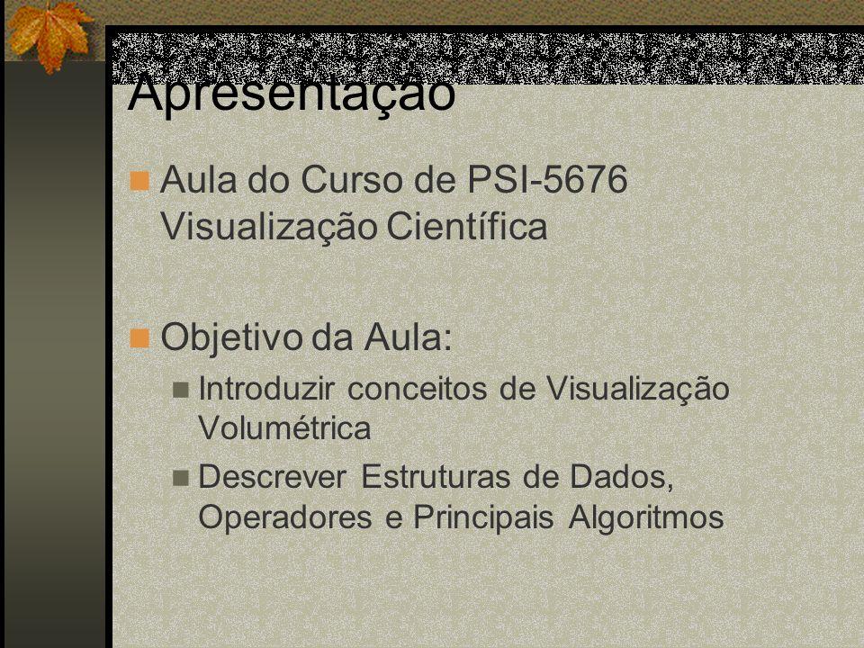 Lapidação Direta de Volumes Fatias do Volume Plano de imagem Raios de Projeção Plano de imagem Shear Composição Warp Algoritmo de Shear Warp Objeto-Imagem Lacroute 1993