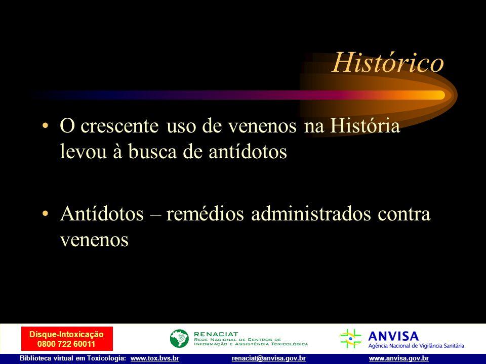 Disque-Intoxicação 0800 722 60011 Biblioteca virtual em Toxicologia: www.tox.bvs.brwww.anvisa.gov.brrenaciat@anvisa.gov.br Assassinos famosos cont… O