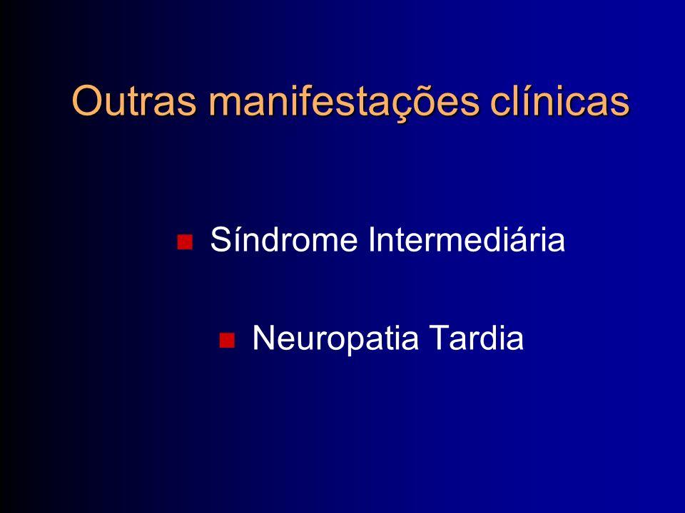 Síndrome Intermediária Neuropatia Tardia Outras manifestações clínicas