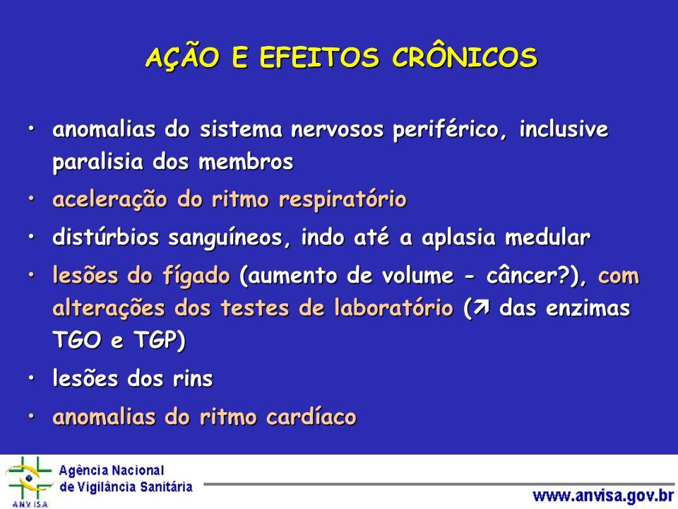CARCINOGÊNESE Administração oral em camundongos: câncer do fígado, pulmão e gângliosAdministração oral em camundongos: câncer do fígado, pulmão e gânglios Administração oral em ratos incidência de tumores do fígadoAdministração oral em ratos incidência de tumores do fígado Administração oral em hamsters: câncer das glândulas supra-renaisAdministração oral em hamsters: câncer das glândulas supra-renais