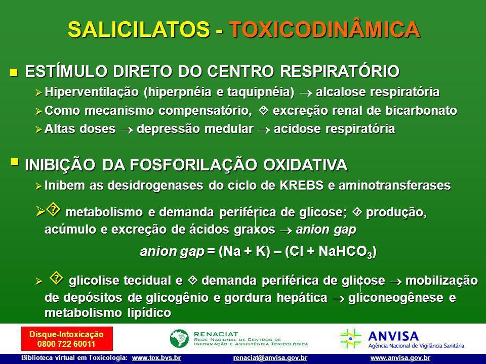 Disque-Intoxicação 0800 722 60011 Biblioteca virtual em Toxicologia: www.tox.bvs.brwww.anvisa.gov.brrenaciat@anvisa.gov.br ESTÍMULO DIRETO DO CENTRO R