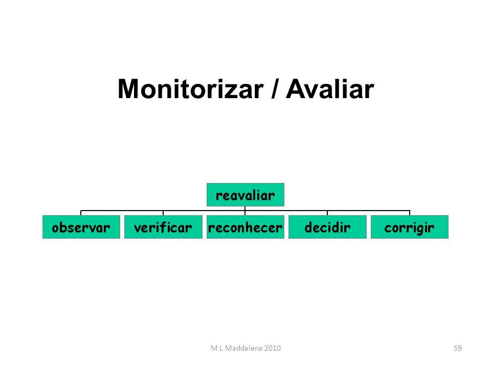 Monitorizar / Avaliar 59M L Maddalena 2010