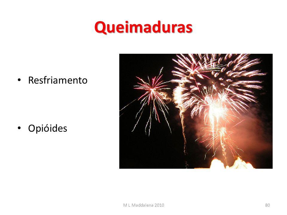 Queimaduras Resfriamento Opióides M L Maddalena 201080