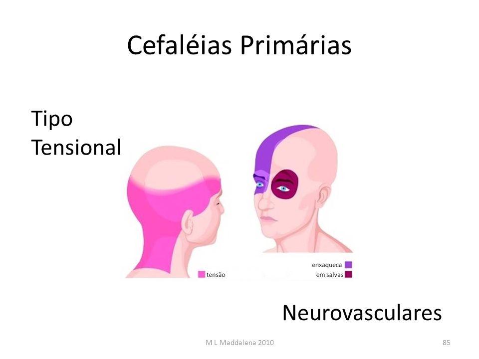 Cefaléias Primárias Tipo Tensional Neurovasculares 85M L Maddalena 2010