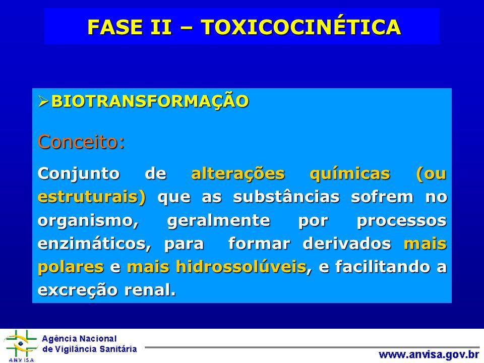 BIOTRANSFORMAÇÃO BIOTRANSFORMAÇÃOConceito: Conjunto de alterações químicas (ou estruturais) que as substâncias sofrem no organismo, geralmente por pro