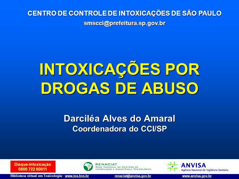 Disque-Intoxicação 0800 722 60011 Biblioteca virtual em Toxicologia: www.tox.bvs.brwww.anvisa.gov.brrenaciat@anvisa.gov.br Maconha: toxicidade Todas as partes da planta contêm o princípio ativo.