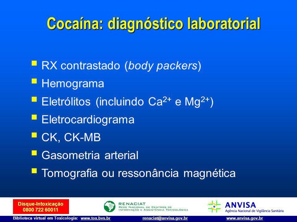 Disque-Intoxicação 0800 722 60011 Biblioteca virtual em Toxicologia: www.tox.bvs.brwww.anvisa.gov.brrenaciat@anvisa.gov.br RX contrastado (body packer
