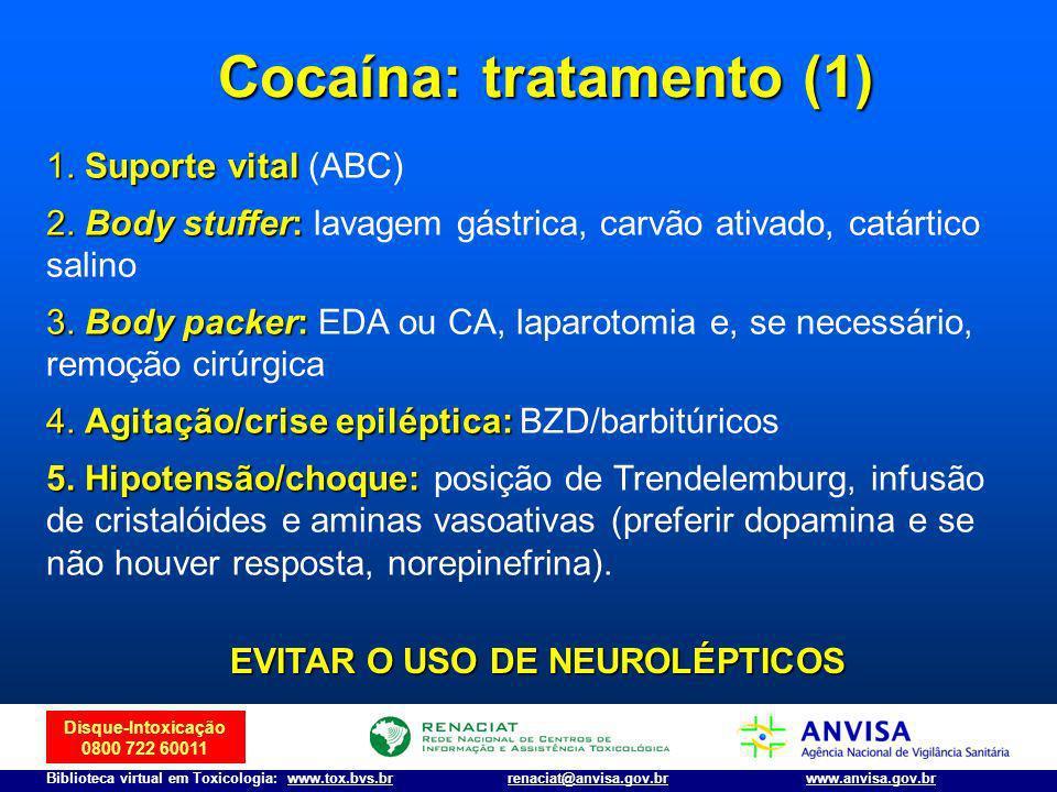 Disque-Intoxicação 0800 722 60011 Biblioteca virtual em Toxicologia: www.tox.bvs.brwww.anvisa.gov.brrenaciat@anvisa.gov.br 1.Suporte vital 1. Suporte