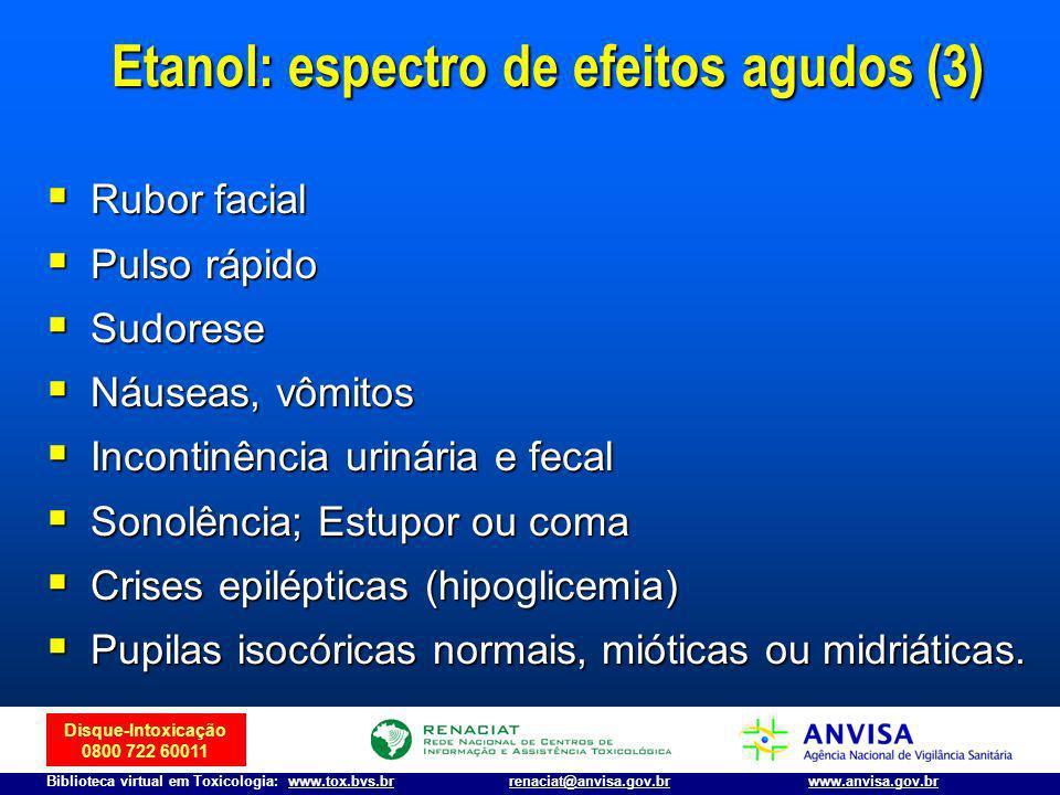 Disque-Intoxicação 0800 722 60011 Biblioteca virtual em Toxicologia: www.tox.bvs.brwww.anvisa.gov.brrenaciat@anvisa.gov.br Rubor facial Rubor facial P