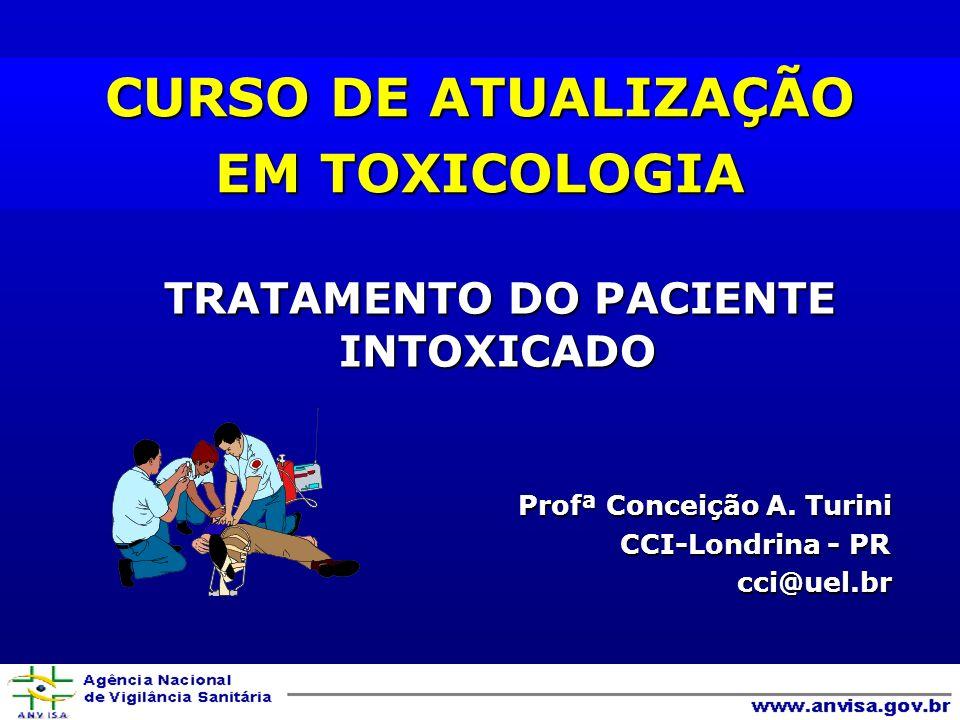 TRATAMENTO DO PACIENTE INTOXICADO TRATAMENTO DO PACIENTE INTOXICADO Profª Conceição A.