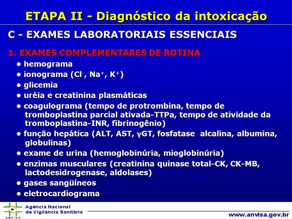 C - EXAMES LABORATORIAIS ESSENCIAIS 1.