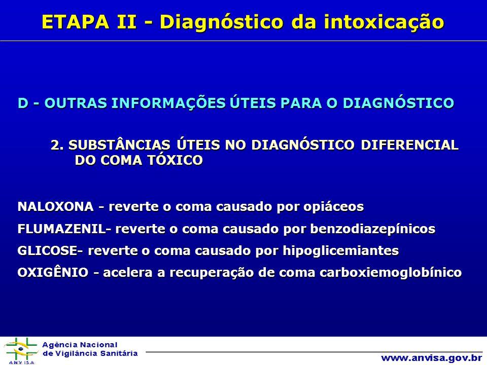 D - OUTRAS INFORMAÇÕES ÚTEIS PARA O DIAGNÓSTICO 2.