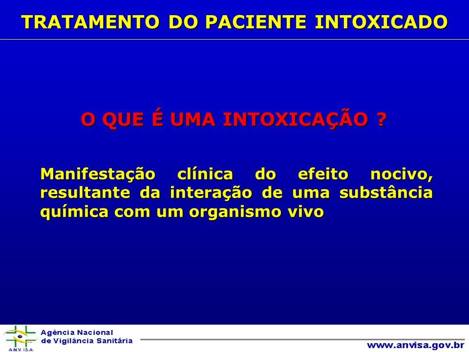 SINAIS/SINTOMAS AGENTE TAQUICARDIA antidepressivos tricíclicos, anticolinérgicos, cocaína, simpaticomiméticos, cafeína, organofosforados, carbamatos BRADICARDIA organofosforados, carbamatos, opiáceos, alfa-adrenérgicos, digitálicos, beta-bloqueadores, clonidina, bloqueadores de canal de cálcio CIANOSE depressores respiratórios, agentes metemoglobinizantes (sulfona, nitritos) PELE DE COLORAÇÃO RÓSEA monóxido de carbono, cianeto QUEIMADURAS DE MUCOSA ORAL OU PELE substâncias cáusticas (alcalinas, ácidas) CONVULSÕES organoclorados, estricnina, organofosforados, cocaína, teofilina, anticolinérgicos B- EXAME FÍSICO