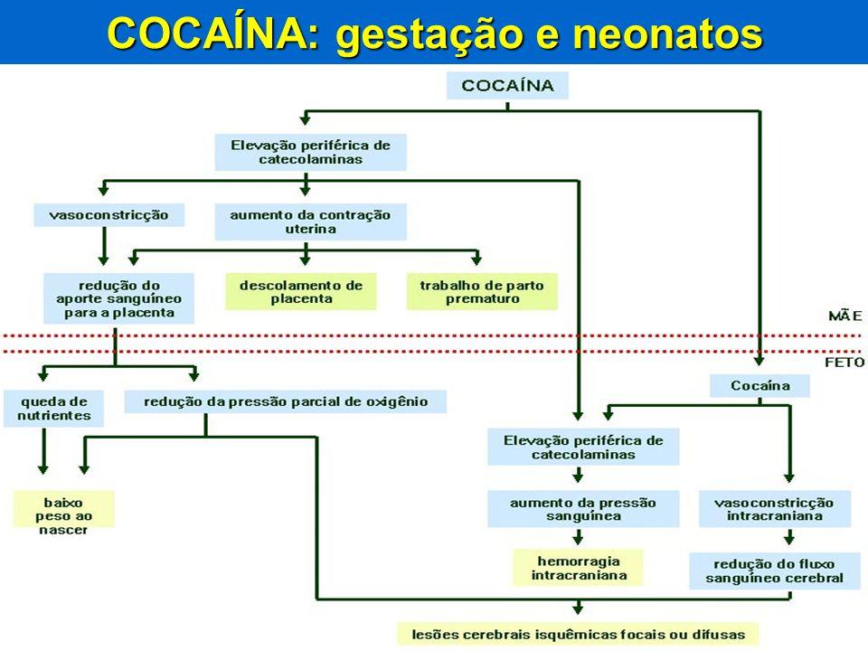 Disque-Intoxicação 0800 722 60011 Biblioteca virtual em Toxicologia: www.tox.bvs.brwww.anvisa.gov.brrenaciat@anvisa.gov.br COCAÍNA: gestação e neonato