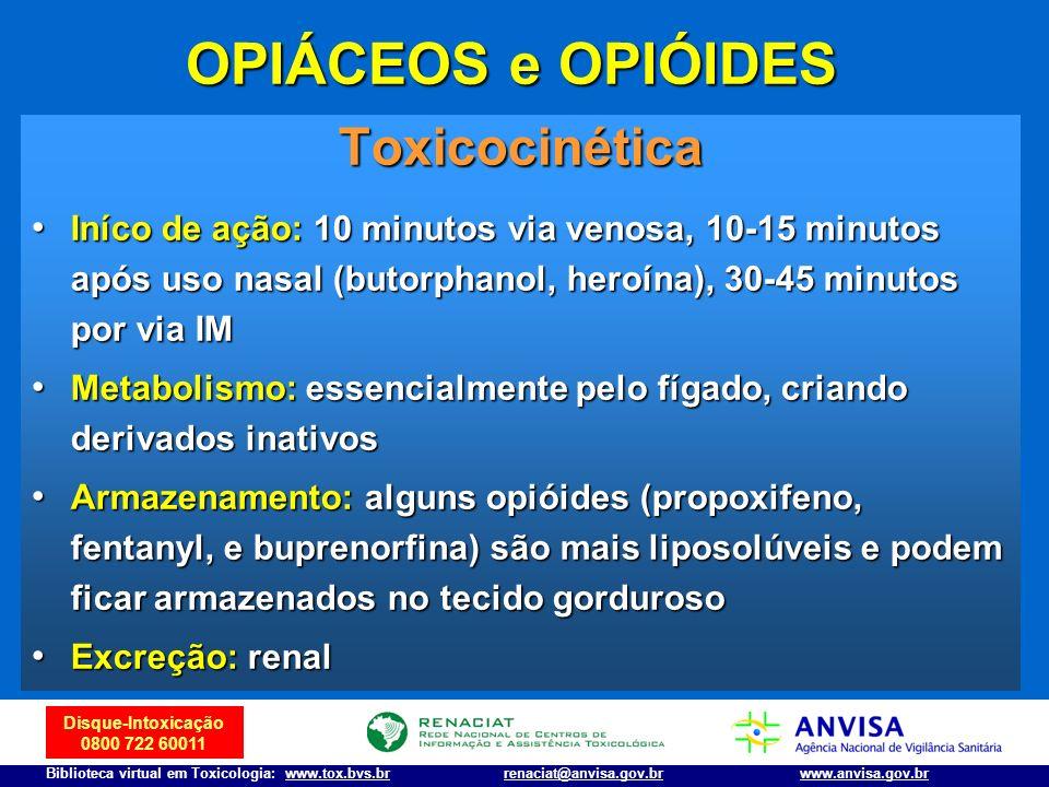Disque-Intoxicação 0800 722 60011 Biblioteca virtual em Toxicologia: www.tox.bvs.brwww.anvisa.gov.brrenaciat@anvisa.gov.br Toxicocinética Iníco de açã