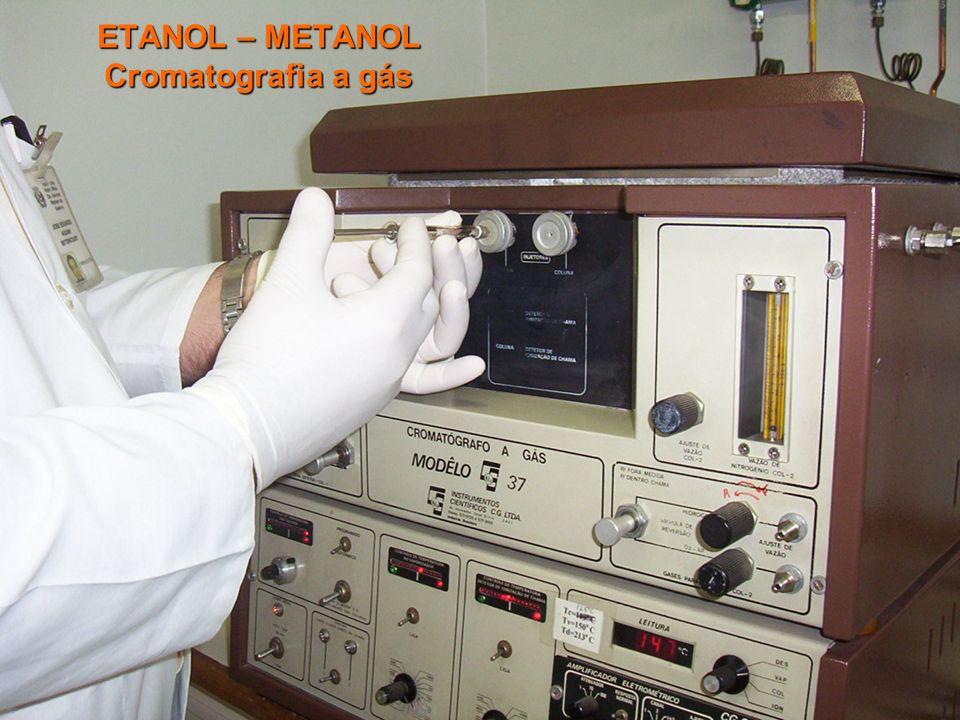 Disque-Intoxicação 0800 722 60011 Biblioteca virtual em Toxicologia: www.tox.bvs.brwww.anvisa.gov.brrenaciat@anvisa.gov.br ETANOL – METANOL Cromatogra