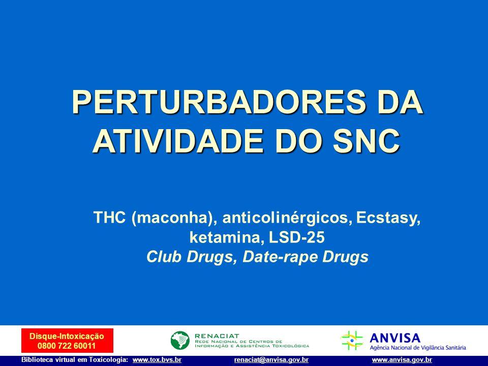 Disque-Intoxicação 0800 722 60011 Biblioteca virtual em Toxicologia: www.tox.bvs.brwww.anvisa.gov.brrenaciat@anvisa.gov.br PERTURBADORES DA ATIVIDADE