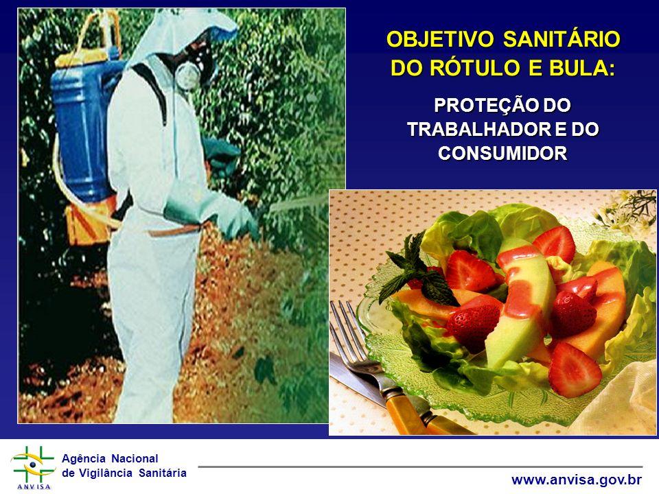 Agência Nacional de Vigilância Sanitária www.anvisa.gov.br OBJETIVO SANITÁRIO DO RÓTULO E BULA: PROTEÇÃO DO TRABALHADOR E DO CONSUMIDOR