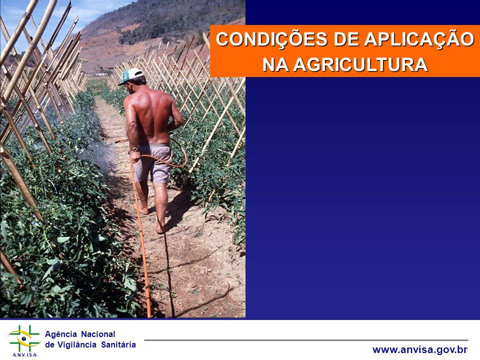 Agência Nacional de Vigilância Sanitária www.anvisa.gov.br CONDIÇÕES DE APLICAÇÃO NA AGRICULTURA