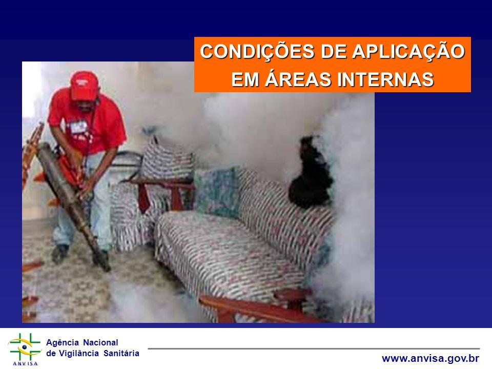 Agência Nacional de Vigilância Sanitária www.anvisa.gov.br CONDIÇÕES DE APLICAÇÃO EM ÁREAS INTERNAS
