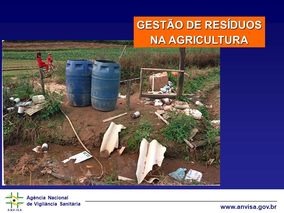 Agência Nacional de Vigilância Sanitária www.anvisa.gov.br GESTÃO DE RESÍDUOS NA AGRICULTURA