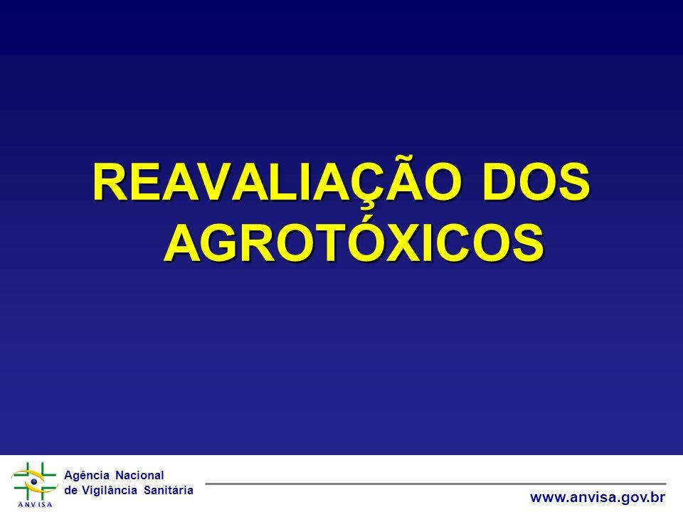 Agência Nacional de Vigilância Sanitária www.anvisa.gov.br REAVALIAÇÃO DOS AGROTÓXICOS