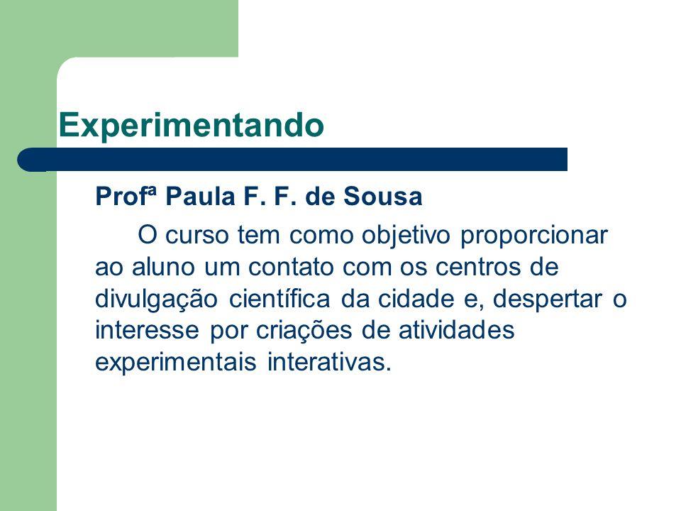 Experimentando Profª Paula F.F.