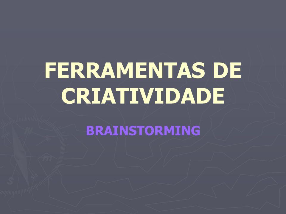 FERRAMENTAS DE CRIATIVIDADE BRAINSTORMING