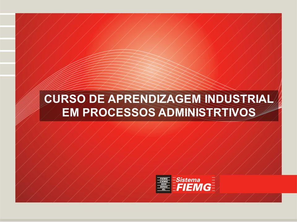 CURSO DE APRENDIZAGEM INDUSTRIAL EM PROCESSOS ADMINISTRTIVOS