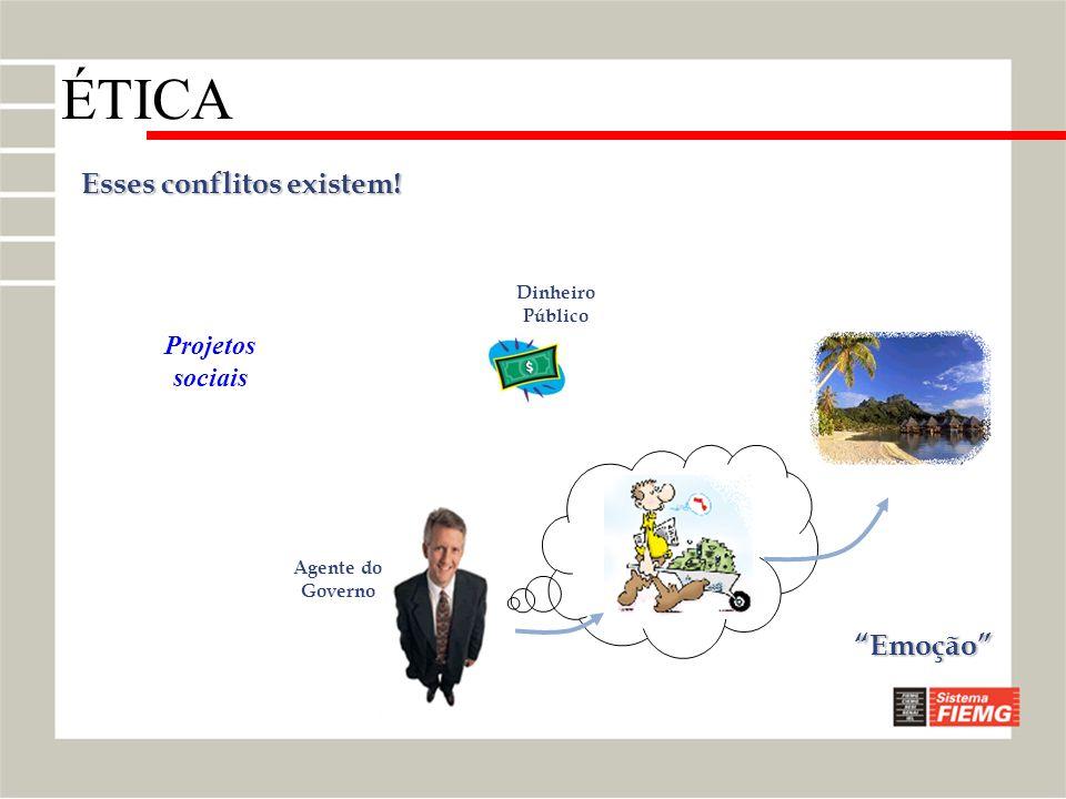 Esses conflitos existem! Agente do Governo Dinheiro Público Emoção Projetos sociais ÉTICA