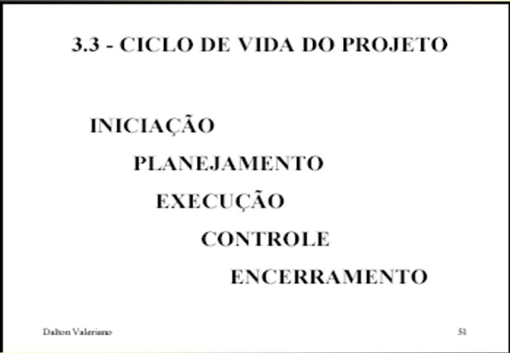 FASES DO PROJETO CONCEP- ÇÃO ORGANI- ZAÇÃO EXECUÇÃO CONCLUSÃO VOLUME DE ATIVIDADES TEMPO INVESTIR O TEMPO QUE FOR NECESSÁRIO CUIDADOS ESPECIAIS NAS RE