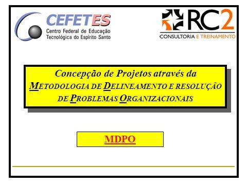 Concepção de Projetos através da M ETODOLOGIA DE D ELINEAMENTO E RESOLUÇÃO DE P ROBLEMAS O RGANIZACIONAIS MDPO