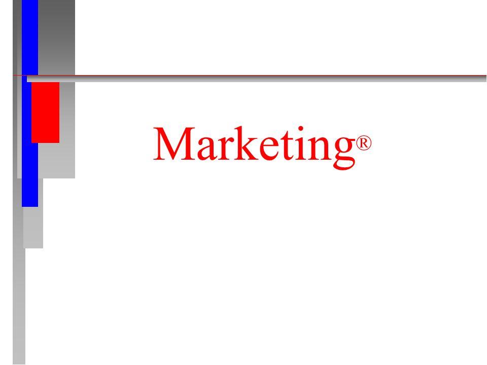 Vendas x Marketing VENDAS n Ênfase no produto.