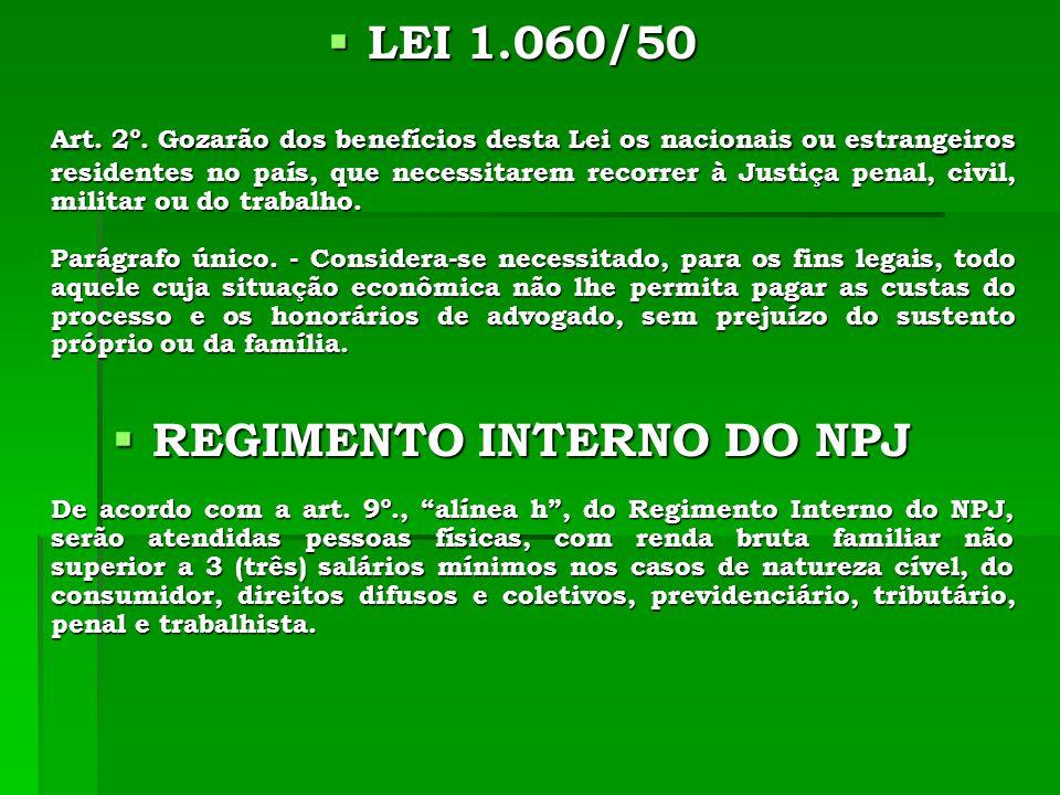 LEI 1.060/50 LEI 1.060/50 Art. 2º.