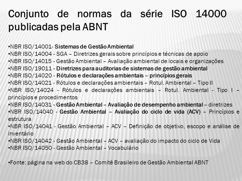 ORGANIZAÇÃO DE SÉRIE NBR-ISO 14.000 16