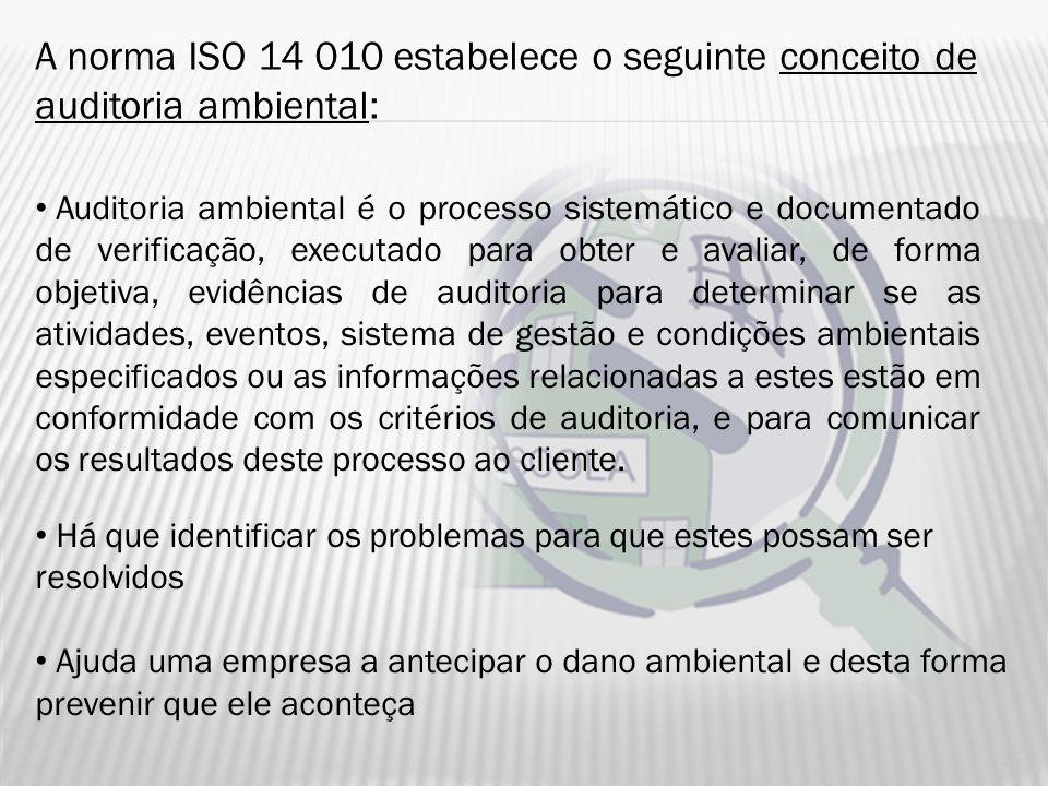 BRASIL BREVE HISTÓRICO – AUDITORIA AMBIENTAL NO BRASIL Década de 80 – exigência das sedes multinacionais 1989 – Constituição do Estado do Rio de Janei