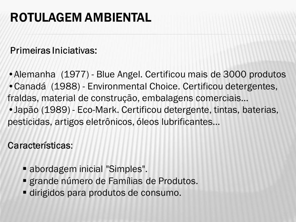 O que é: A rotulagem ambiental da série ISO 14.000 é a certificação de produtos adequados ao uso, que apresentam menor impacto no meio ambiente em rel