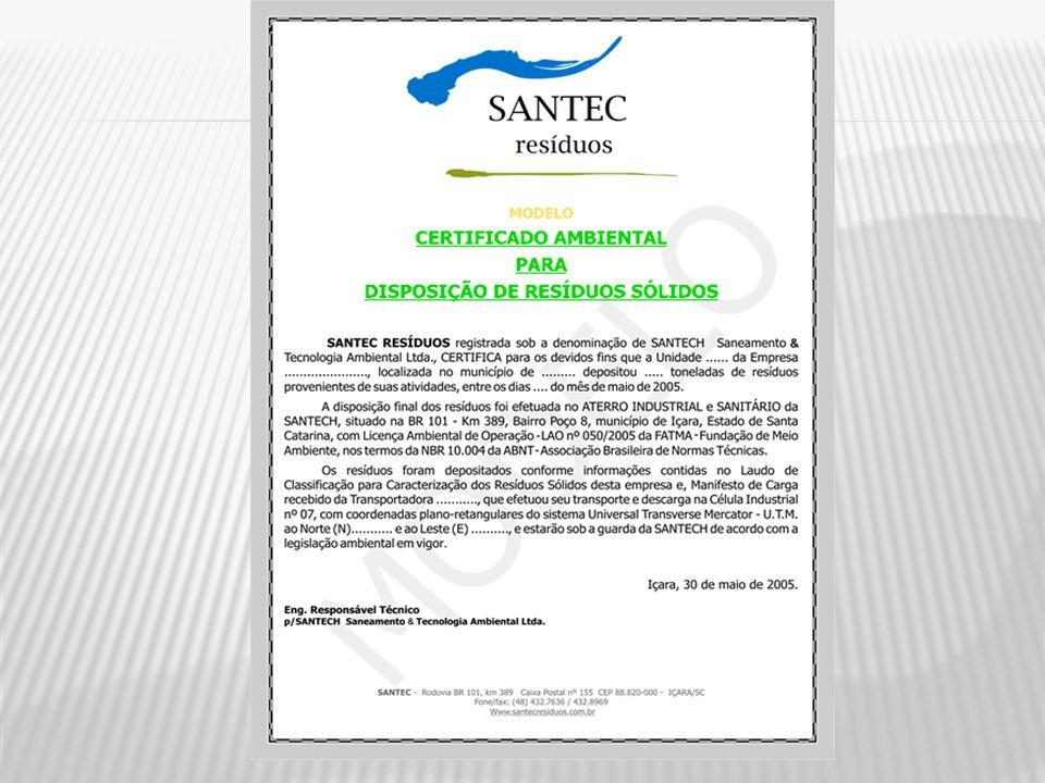 Segundo a ISO, em seu documento The ISO Survey of ISO 9000 and ISO 14001 certificates, 2002, até dezembro de 2002, existiam 49462 certificados emitido