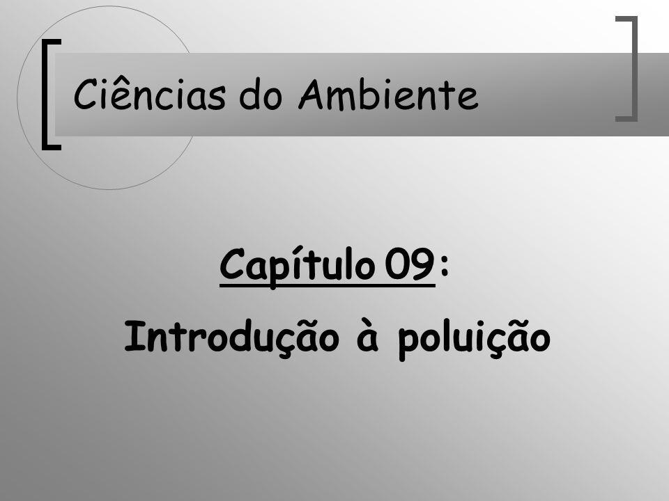 Capítulo 09: Introdução à poluição Ciências do Ambiente