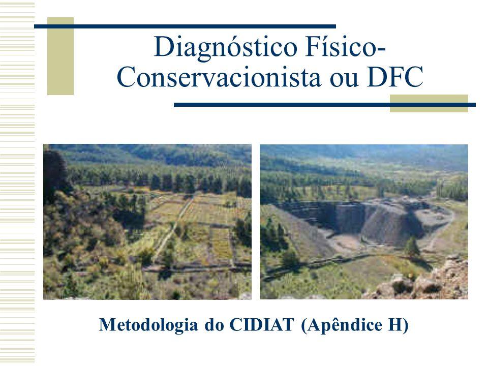 Diagnóstico Físico- Conservacionista ou DFC Metodologia do CIDIAT (Apêndice H)