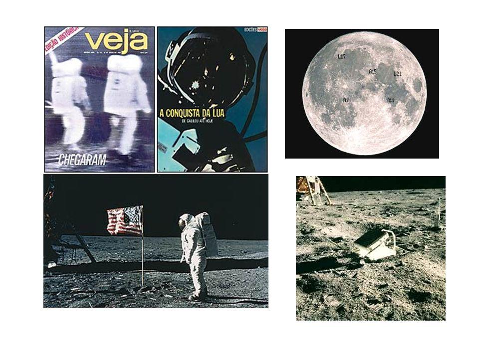 Os dois ficaram cerca de 2h na Lua e coletaram pedras e pó para estudos. Além disso, instalaram aparelhos como um sismógrafo (para registrar os movime