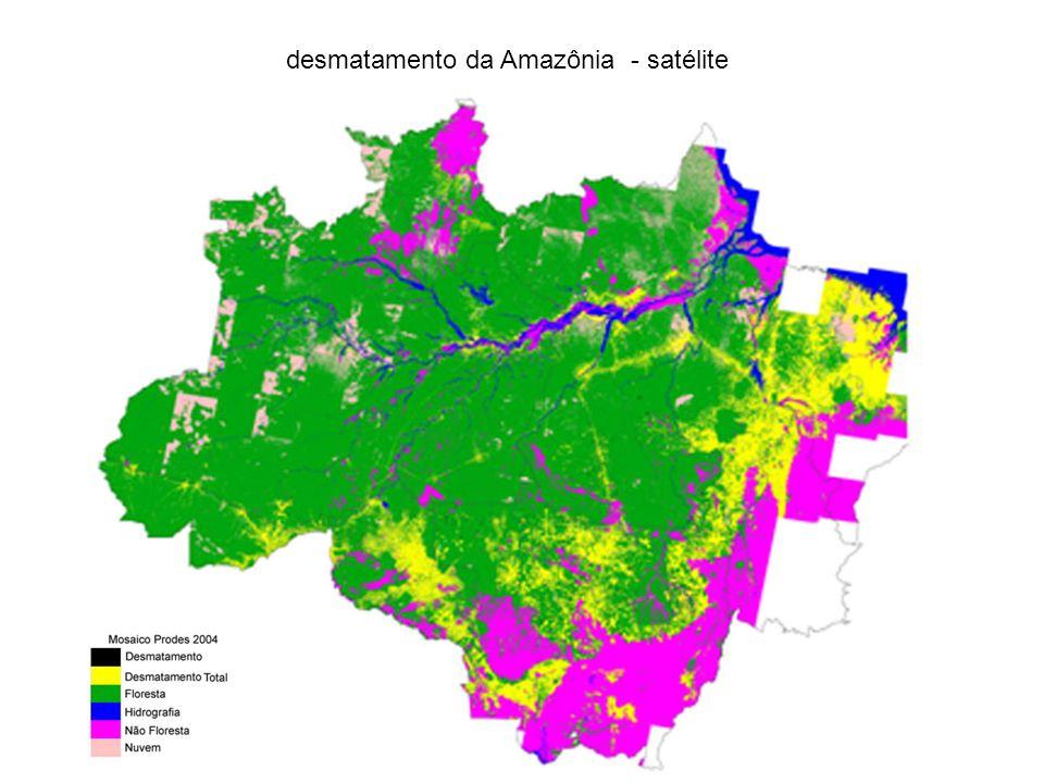 As imagens abaixo (A, B e C) são de uma mesma região do estado do Pará.