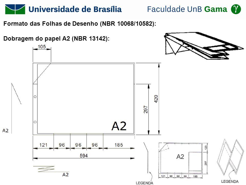 Formato das Folhas de Desenho (NBR 10068/10582): Dobragem do papel A2 (NBR 13142):