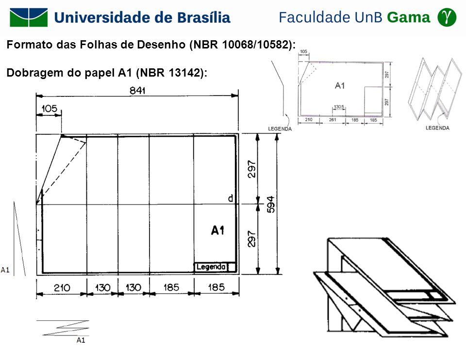 Formato das Folhas de Desenho (NBR 10068/10582): Dobragem do papel A1 (NBR 13142):